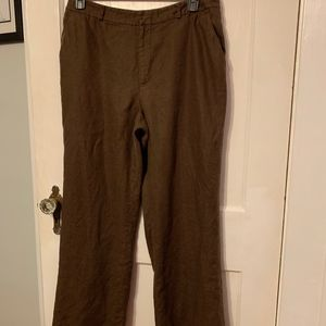 Lauren Ralph Lauren women's linen pants brown 14